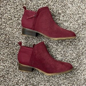 TOMS suede booties size 7.5